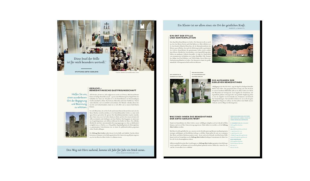 Stiftung Abtei Gerlerve, Flyer A4